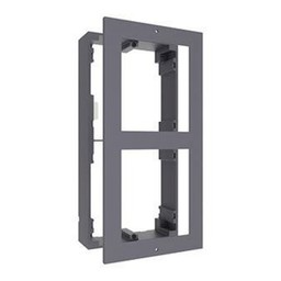 Surface-mounted frame for modular intercom.