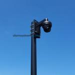 ASE Mât de caméra avec ancre inclinable 3 mètres