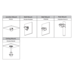 Dahua Kit IP Full HD 3x dôme 4 Megapixel Camera Security Set