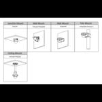Dahua Full HD IP Kit 4x Kuppel 4 Megapixel Kamera Sicherheitsset