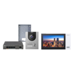 Dahua Juego de videoportero Dahua KTP01 con interruptor PoE, VTO2202F-P y estación interior VTH2421FW-P