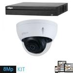Dahua Ultra HD IP kit 1x dome 8 Megapixel camera security set
