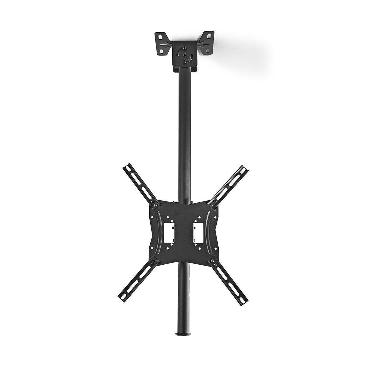 Diese TVCM1330BK Deckenhalterung von Nedis® ist die vielseitigste Lösung zum Aufhängen Ihres Fernsehgeräts. Warum sollte Ihr Fernseher mehr Platz beanspruchen als nötig? Mit dieser Deckenhalterung können Sie Ihren Fernseher einfach von der Decke hängen.