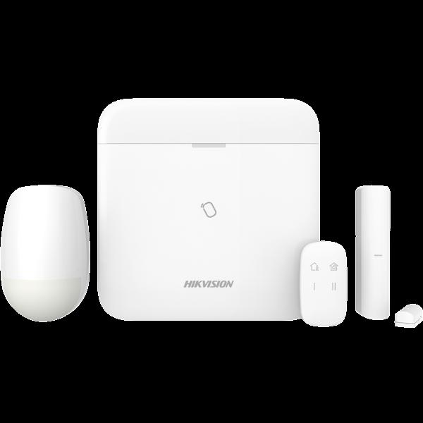 O novo kit de alarme sem fio Hikvision com o novo painel Hikvision AXHub é um sistema de alarme sem fio único, rápido, profissional e confiável, com o qual o usuário final pode operar facilmente o sistema com o conhecido aplicativo Hikvision Hik-Connect.
