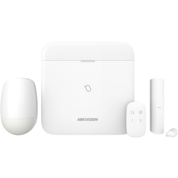 Il nuovo kit di allarme wireless Hikvision con il nuovo pannello Hikvision AXHub è un sistema di allarme wireless unico, veloce, professionale e affidabile, con il quale l'utente finale può facilmente utilizzare il sistema con la nota app Hikvision Hik-Co