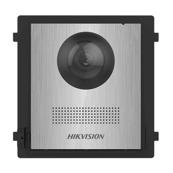 DS-KD8003-IME1 / NS, modular intercom, camera module stainless steel without bell push can be combined with the DS-KD-KK / S stainless steel bell push module and a stainless steel frame surface-mounted or built-in.