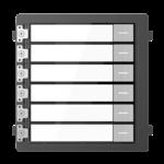 Hikvision DS-KD-KK / S, intercomunicador modular, 6 botones de timbre de acero inoxidable