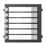 Hikvision DS-KD-KK / S, interfone modular, 6 botões de campainha de aço inoxidável