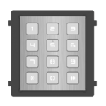 Hikvision DS-KD-KP/S, modulaire intercom, keypad RVS