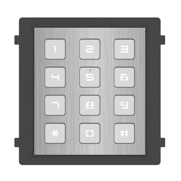 DS-KD-KP / S, modular intercom, keypad stainless steel, to be combined with the stainless steel camera module and a surface-mounted or built-in stainless steel frame.
