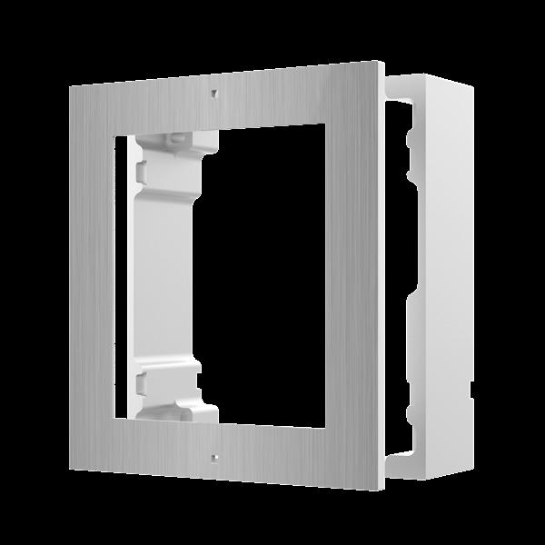DS-KD-ACW1/S, modulaire intercom, opbouwframe 1 module RVS te combineren met de cameramodule