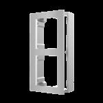 Hikvision DS-KD-ACW2 / S, intercomunicador modular, marco de superficie 2 módulos de acero inoxidable
