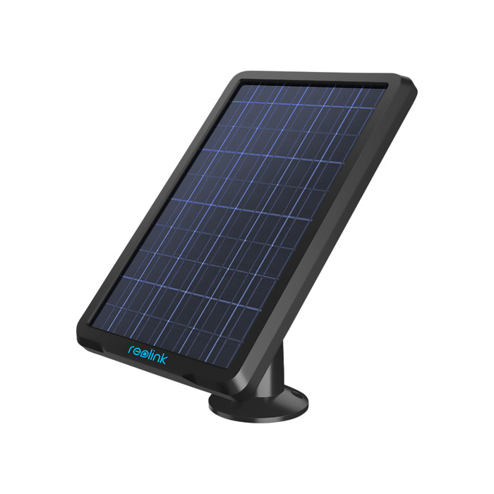 Solar panel, to be connected to Reolink Go, Argus2, Argus Eco and Argus PT. Colour black