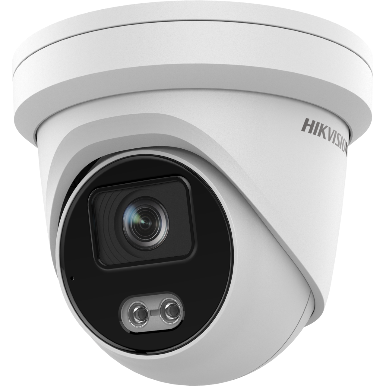 This camera features: - View images anywhere in the world via Hik-Connect. - Save images to NVR or SD card. - 2 Megapixel lens with 110° degree viewing angle. - 24/7 Color Image. - Micro SD slot up to 128GB. - False alarm filter.