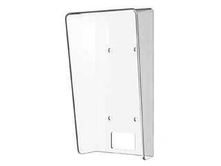 The Hikvision DS-KABV6113-RS is a surface-mounted rain cover made of transparent plastic for the outdoor station DS-KV6113 DS-KV6103.