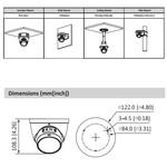 Dahua IPC-HDW2431T-ZS-S2 Starlight 4 MP globo ocular com zoom motor 2,7-13,5 mm