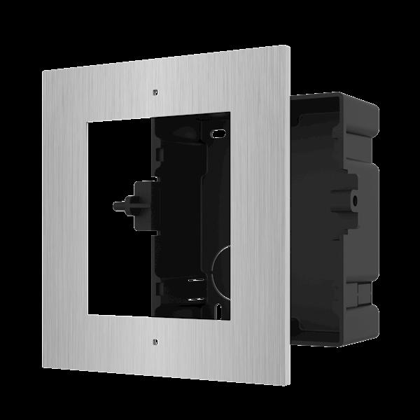 Installationsrahmen für modulare Gegensprechanlage. Rostfreier Stahl.