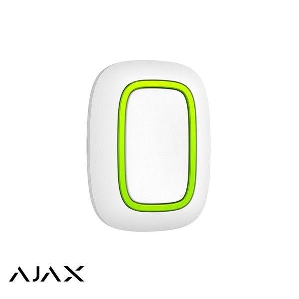 Ajax Panikknopf Weiß ist ein kleiner Knopf, den Sie unter dem Tisch oder am Kopfteil aufhängen, an einem Schlüsselring aufhängen oder in Ihre Tasche stecken können. Signalreichweite bis 1300 m
