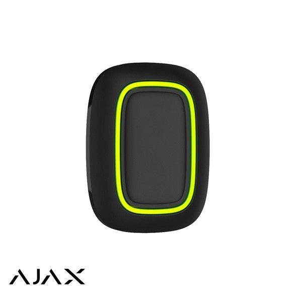 Ajax Panic button Black is a small button that you can hang under the table or on the headboard, hang on a key ring or put in your pocket. Signal range up to 1300 m