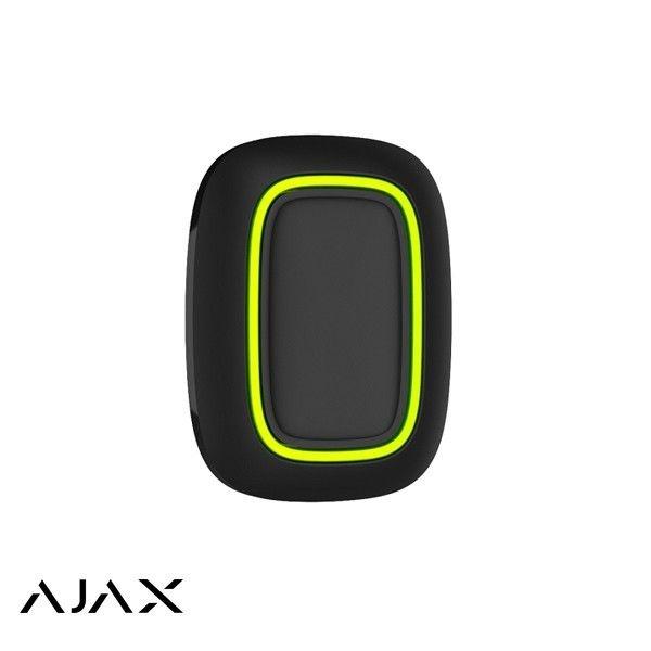 Ajax Panic button Black è un piccolo bottone che puoi appendere sotto il tavolo o sulla testiera del letto, appendere a un portachiavi o mettere in tasca. Portata del segnale fino a 1300 m
