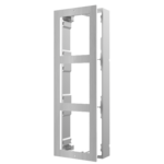 Hikvision DS-KD-ACW3 / S, intercomunicador modular, marco de superficie 3 módulos de acero inoxidable