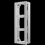 Hikvision DS-KD-ACW3 / S, interphone modulaire, cadre en saillie 3 modules en acier inoxydable
