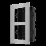 Hikvision DS-KD-ACF2 / S, modulare Gegensprechanlage, Installationsrahmen 2 Module Edelstahl