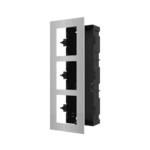 Hikvision DS-KD-ACF3 / S, intercomunicador modular, marco de instalación 3 módulos de acero inoxidable