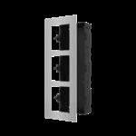 Hikvision DS-KD-ACF3/S, modulaire intercom, inbouwframe 3 modules RVS