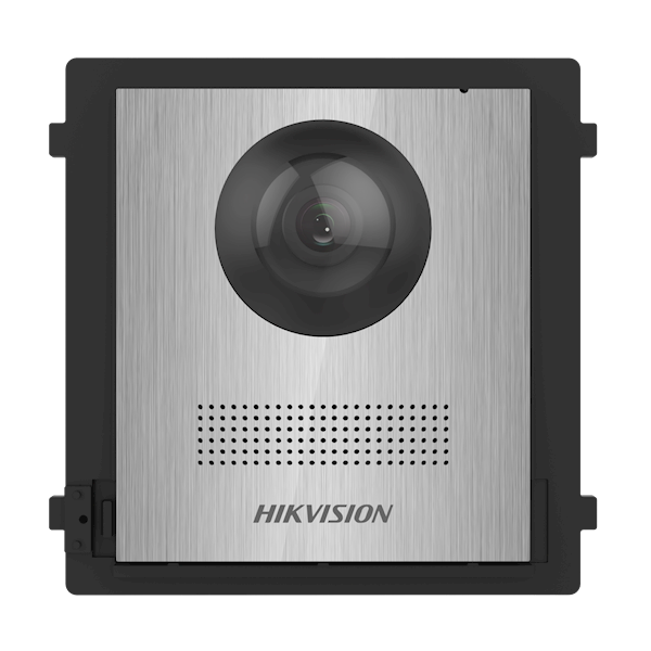 DS-KD8003-IME2 / NS, 2-Wire Modular intercom, camera module stainless steel without printing can be combined with the DS-KD-KK / S stainless steel bell buttons in an optional stainless steel frame as a built-in or surface-mounted.