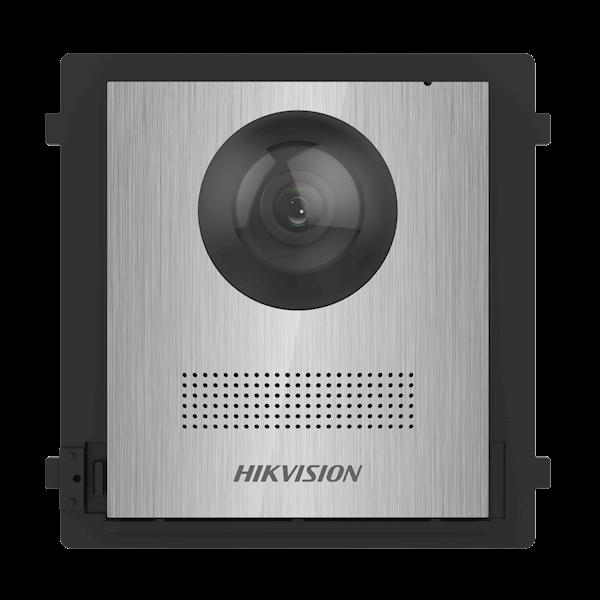 DS-KD8003-IME2 / NS, interphone modulaire à 2 fils, module de caméra en acier inoxydable sans impression peut être combiné avec les boutons de cloche en acier inoxydable DS-KD-KK / S dans un cadre en acier inoxydable en option comme encastré ou en surface