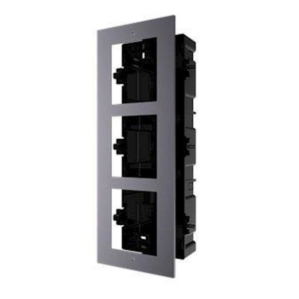 DS-KD-AFC3, intercomunicador modular, marco de montaje 3 módulos