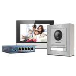 Complete intercom kit RVS met PoE switch