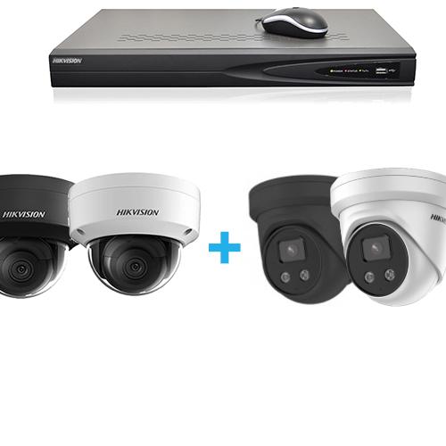 Conjunto de vigilância de câmera HD IP