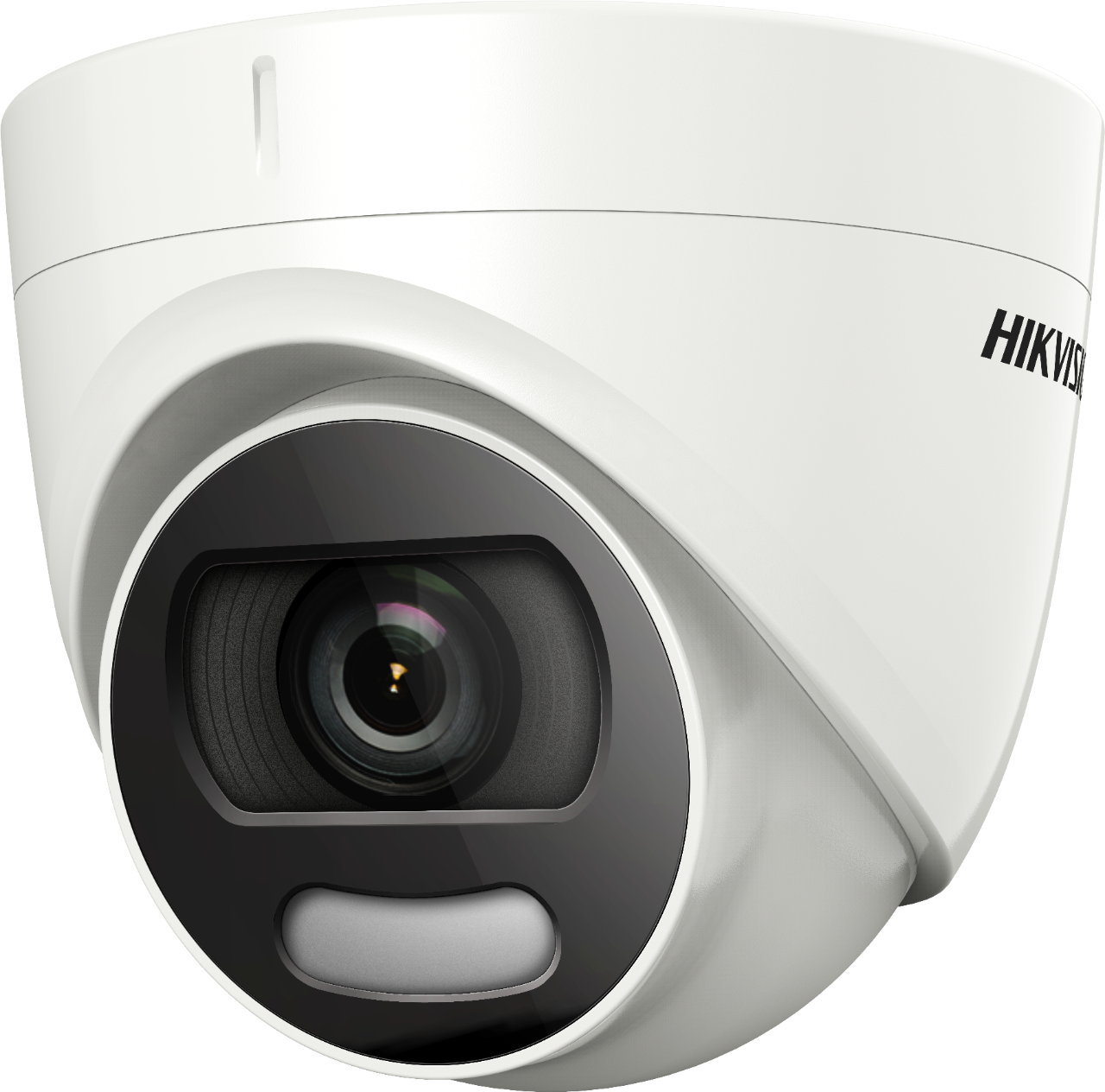 Turbo HD HDoC Eyeball / Turret camera For outdoor use Resolution: 5MP Lens: 2.8mm White light 20m IP67 Power supply: 12VDC ColorVu - 24/7 color, 4in1, Up the Coax (HIkVision-C) 130dB True WDR