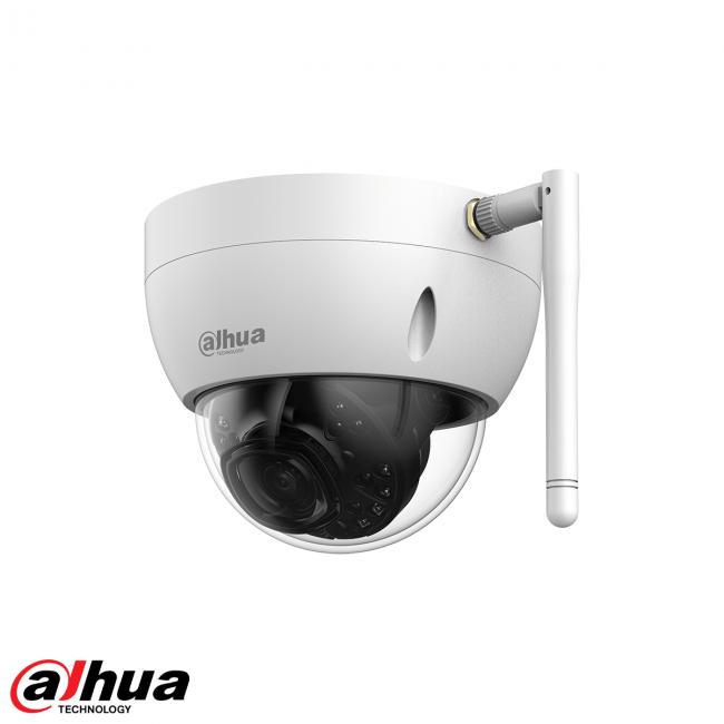Le Dahua IPC-HDBW1435EP-W-S2, caméra dôme WiFi 4 mégapixels 120dB WDR, LED IR 30m, objectif 2.8mm est une caméra dôme compacte 4 mégapixels, Leds IR, et équipée d'une fonction WDR 120dB et WiFi (seulement 2.4Ghz) La caméra est donc très sensible à la lumi