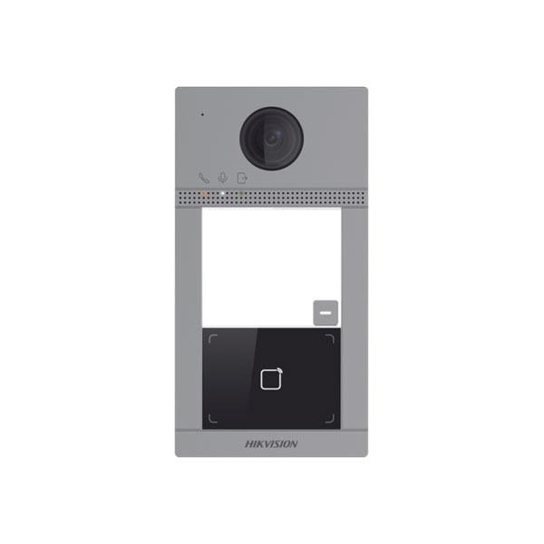 Dieser Außenposten muss mit einer Innenstation verbunden sein! Alle Hikvision Intercom-Produkte der 2. Generation können miteinander kombiniert werden. Sowohl IP- als auch 2-Draht-Produkte können zusammen verwendet werden. Dies gilt nicht für Produkte der