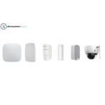 Ajax Systems Alarm System Kit 1CD Wireless with Dome Camera for outside (White)