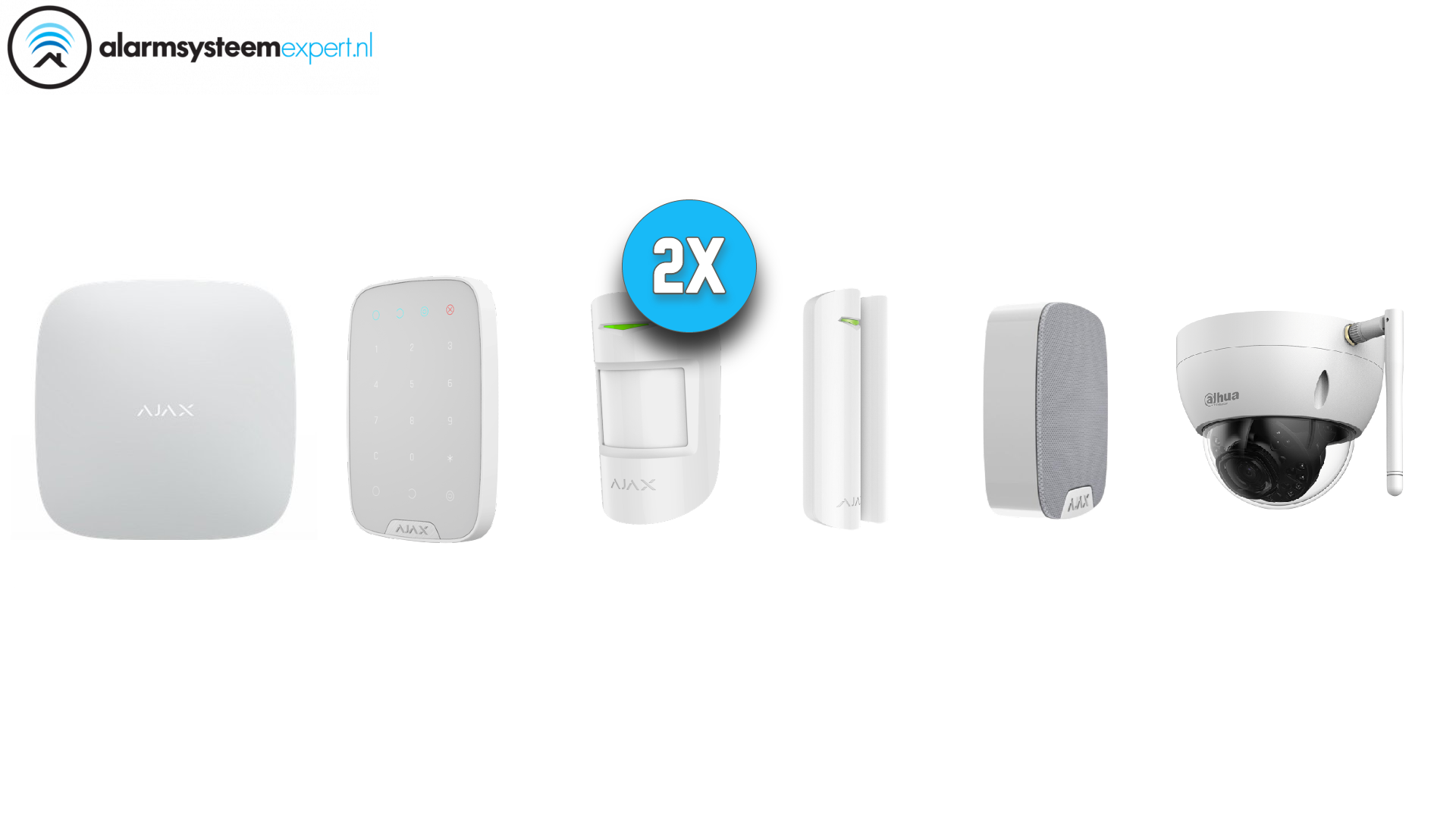 Ajax alarm system kit can be used as the basis for the wireless Ajax security system.