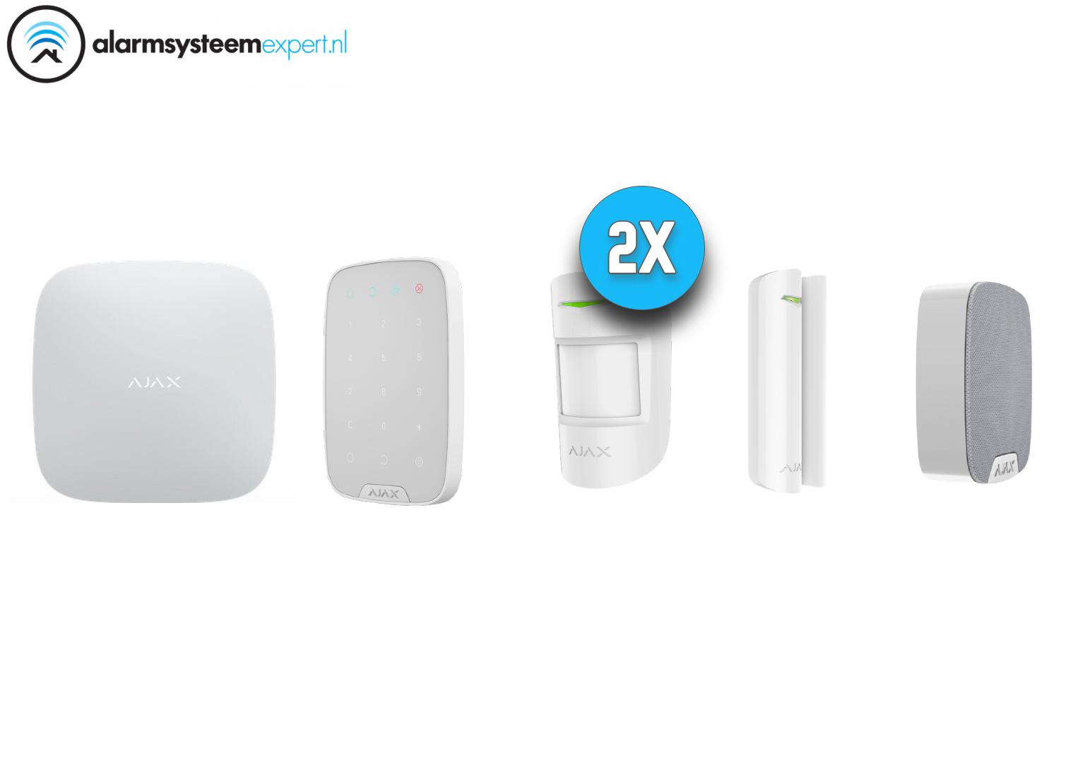 Ajax alarmsysteem kit kunt u gebruiken als basis voor het draadloze Ajax beveiligingssysteem.