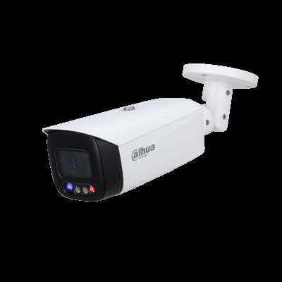 IPC-HFW3449T1P-AS-PV, 4 MP, a colori, deterrenza attiva, proiettile a focale fissa. TiOC è l'acronimo di fotocamera 3 in 1 che integra monitoraggio a colori 24 ore su 24, 7 giorni su 7, deterrenza attiva e intelligenza artificiale in un'unica soluzione in
