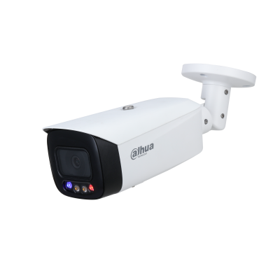 IPC-HFW3849T1P-AS-PV, 8Mp / 4K, Full-color, Active Deterrence, Fixed-focal Bullet. TiOC stands for the 3 in 1 camera that integrates 24/7 full-color monitoring, active deterrence and AI in one smart and innovative solution. TiOC can accurately identify po