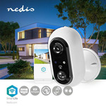 Nedis SmartLife Outdoor Wi-Fi Camera | Full HD 1080p | IP65 | Maximum battery life: 4 month (s) | Cloud / MicroSD | 5 VDC | With motion sensor | Night vision | Android ™ & iOS | White
