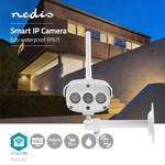 Nedis Telecamera Wi-Fi per esterni SmartLife | Full HD 1080p | IP67 | Cloud / MicroSD | 12 VDC | Visione notturna | Android ™ e iOS | bianca