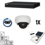 Dahua Full HD IP Kit 1x Kuppel 4 Megapixel Kamera Sicherheitsset