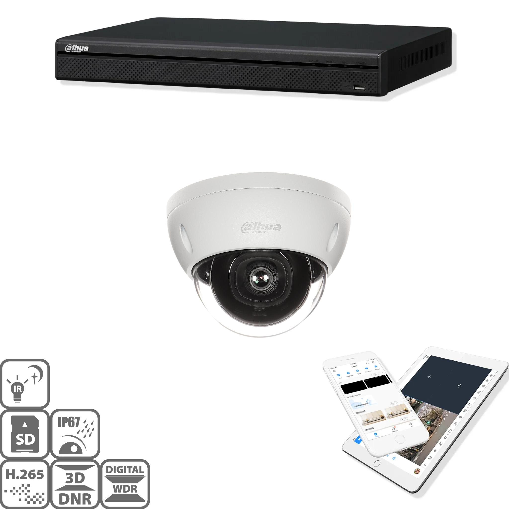 Set di sorveglianza telecamera IP HD