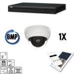 Dahua Ultra HD IP kit 1x dome 8 Megapixel camerabeveiliging set