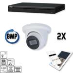 Dahua Kit IP Ultra HD 2x Eyeball 8 Megapixel Camera Security Set