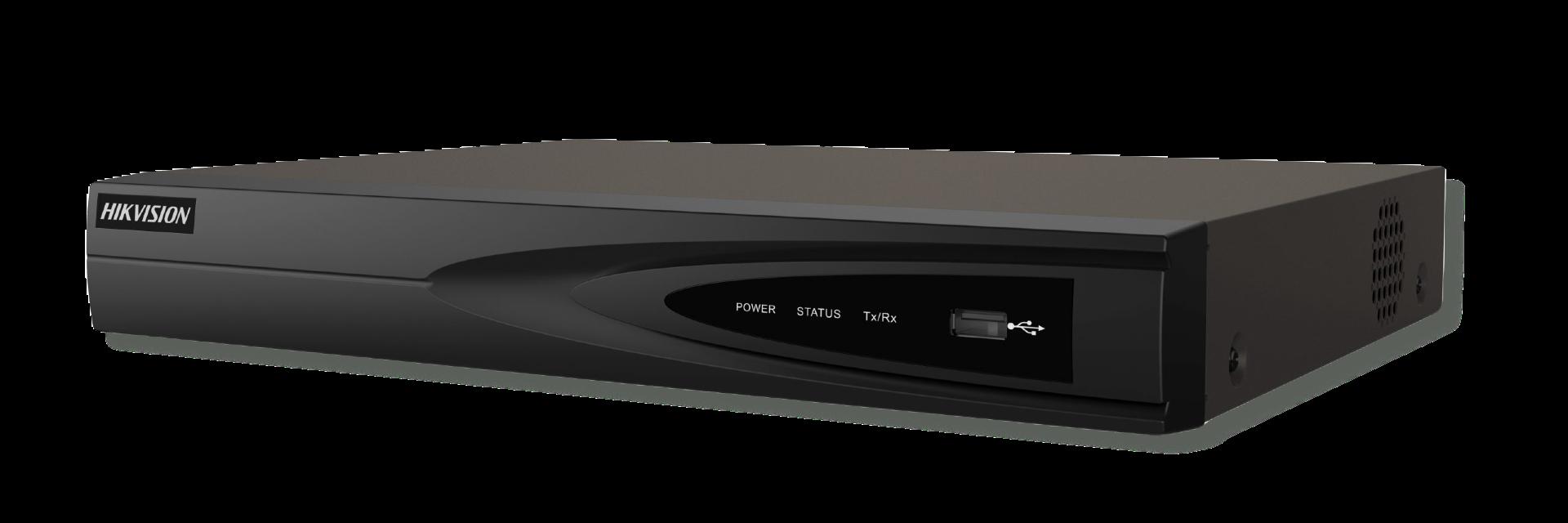 Este gravador / NVR apresenta: - 4 canais - 4 portas POE - 1 conexão Sata para HDDs de 3,5 polegadas de até 6 TB - Suporte H.265 - Aplicativo Hik-Connect para download - conexão HDMI
