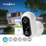 Nedis Telecamera Wi-Fi per esterni SmartLife | Full HD 1080p | IP65 | Cloud / MicroSD | Sensore di movimento | Visione notturna | Android ™ e iOS | bianca
